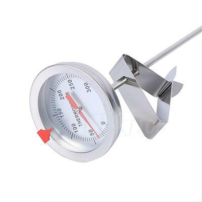 """Stainless Steel Clip Probe Food Thermometer For Brew Homebrew Beer Barrel 12"""" BT"""