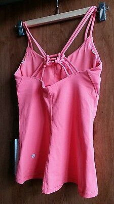 NWT lululemon Sunset Flow Tank  With Pads-size6 CAPE red