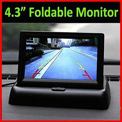 """4.3"""" TFT 16:9 Foldable LCD Screen Monitor for Car Rear Reverse Rearview Camera A"""