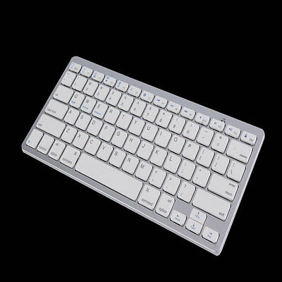 New Silver Wireless Bluetooth Keyboard For Android MAC Windows OS System AU