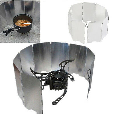 Foldable Mini 9 Plates Cooker BBQ Gas Stove Wind Shield Screen Picnic Outdoor AU
