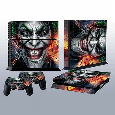 Joker Vinly Skin Sticker for Sony PS4 PlayStation 4 and 2 Controller Skins AU