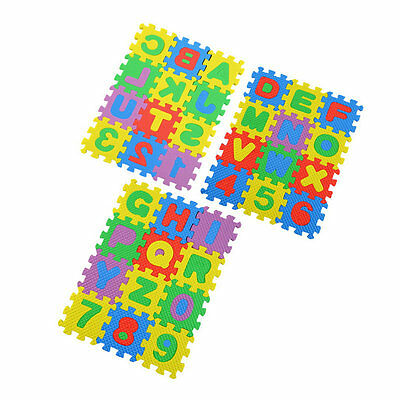 36X Puzzle Kid Educational Toy Alphabet A-Z Letters Numeral Foam For Age 1~7