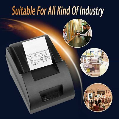 USB Mini 58mm POS Thermal Dot Receipt Bill Printer Set Roll Paper POS-5890C AU