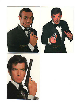 1997 James Bond Connoisseur Collection Volume One/Two/Three Base Sets 270 Cards