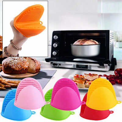 Kitchen Heat Insulated Finger Protector Glove Holder Clip Oven Dishes Gloves AU