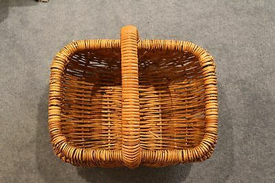 Cane Wicker Basket with handle