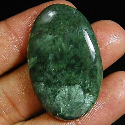 44.70 Cts Natural Designer Green Seraphinite Oval Cabochon Top Loose Gemstones