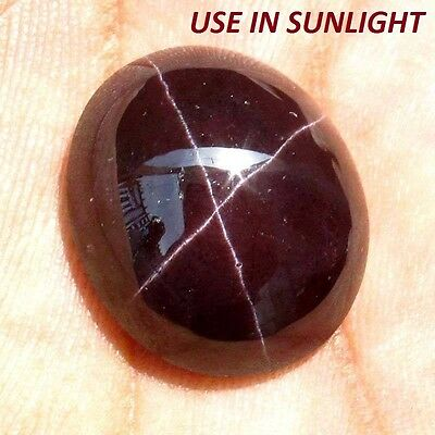 22.00 Cts 100% NATURAL ALMANDINE STAR GARNET LOOSE GEMSTONE CAB FOUR RAY AAA