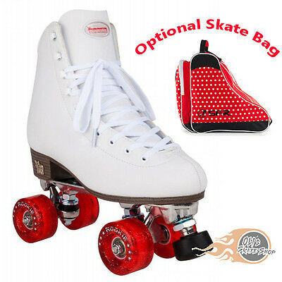 Rookie Classic II Quad Roller Skates White - Optional Skate Bag