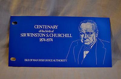 Isle of Man Centenary Birth Winston Churchill Special Issue Presentation Stamps