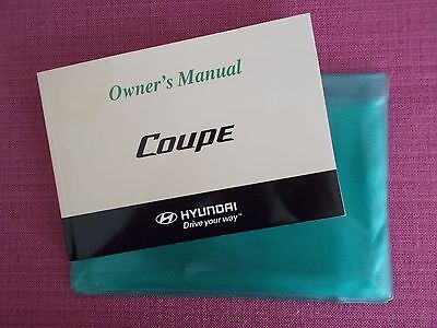 Hyundai Coupe (2007 - 2009) Owners Manual - Owners Guide - Handbook.(Hy 103)