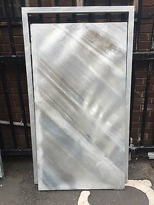 Galvanised Steel High Security Door With Frame, 5 Level Lock And Handle