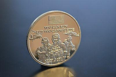 You Can Run But You  Cannot  Hide  Sept  11 Usa  G  Bush  Gold Layered  Coin