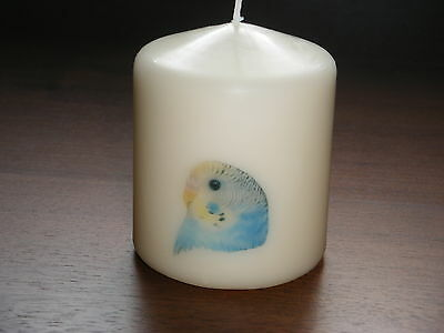 Candle Picture of a Budgie Bird Can be Personalised Birthday Gift Memorial New