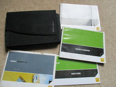 Renault Clio Owners Manual Handbook Wallet 2005 To 2009 Fast Post