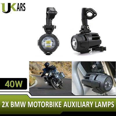 Universal BMW Motorcycle LED Auxiliary Lamps 40W Combo Fog Lights For Motorbikes