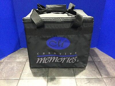 Creative Memories Paper Tote with Hanging File Folders and Zipper Lid EUC NLA