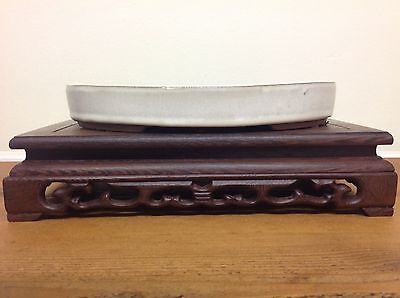White Glazed Oval Bonsai Pot (25x18x4cm)