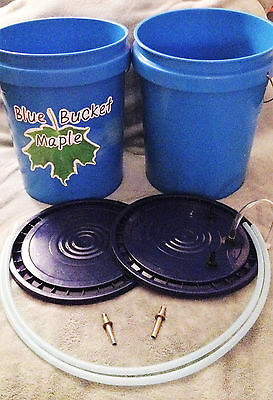 Tap & Sap Blue Bucket Maple DoubleTap  Home Sugaring Kit