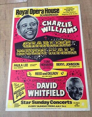 CHARLIE WILLIAMS & david whitfield SCARBOROUGH ROYAL OPERA HOUSE poster