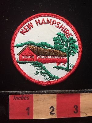New Hampshire Patch ~ Beautiful Covered Bridge 69T5