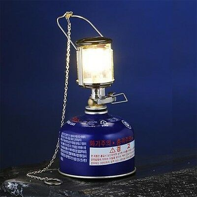 Outdoor Mini Camping Lantern Gas Light Windproof Tent Lamp Torch Hanging UR