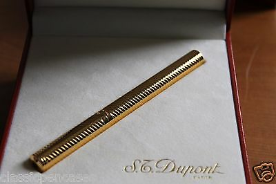 Rare S.T. Dupont Fountain Pen Stylo Plume Lady Mascara Plaque Or Made In France