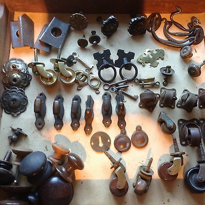 Collection Of Antique Handles,wheels , Bits & Bobs