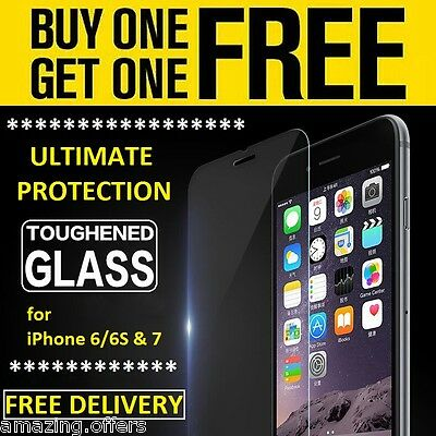 100% Genuine Tempered Glass Film Screen Protector Protection Apple Iphone 6S