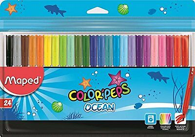 Maped Color'Peps Ocean with Plastic Pouch Assorted - Medium Tip