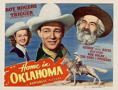ROY ROGERS & DALE EVANS * GABBY HAYES * HOME IN OKLAHOMA * 11x14 TC print 1946