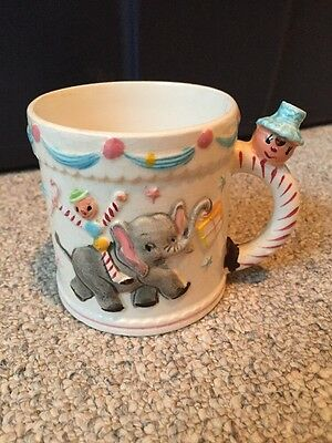 VINTAGE CHILDS WHISTLE CUP JAPAN CIRCUS With Elephant