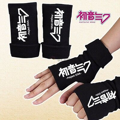 Anime Hatsune Miku Half Finger Glove Cotton Mitten Unisex Cosplay Winter Gifts