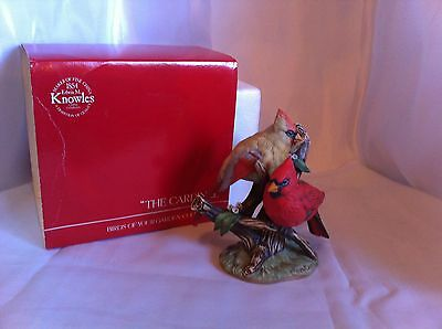 """Knowles Birds of Your Garden By Kevin Daniels """"The Cardinal"""" Figurine Ltd Ed"""