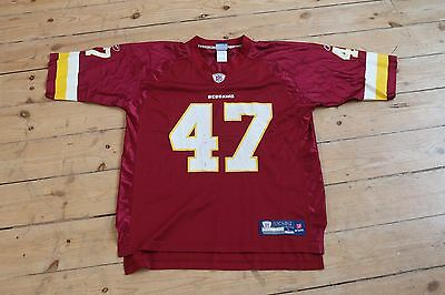 NFL Washington Redskins #47 onfield Large american football Reebok jersey top