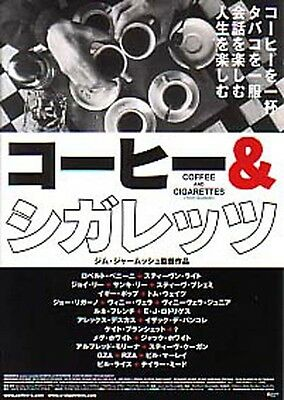 """COFFEE AND CIGARETTES -2003-title two""""Japanese Movie Chirashi flyer(mini poster)"""