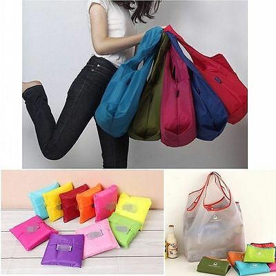 Women Foldable Waterproof Storage Eco Reusable Shopping Tote Grocery Bags