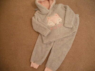Childrens Fleece Set Leisure Top with Hood & Joggers BNWT  Size 6-7 Years