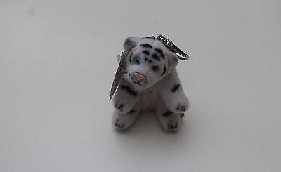 White Tiger Soft Toy Keyring Mobile Phone Charm