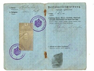 WW1 GERMAN OCCUPATION Lithuania Document 1916 RARE old