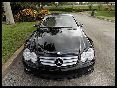 2007 Mercedes-Benz SL-Class Base Convertible 2-Door 07 SL550 AMG SPORT PKG PANORAMIC SUNROOF NAVIGATION COOLED SEATS XENON FL