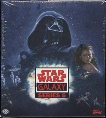 STAR WARS Galaxy 5 Factory Sealed HOBBY Box Topps RARE Sketch Card?  2 BOXES
