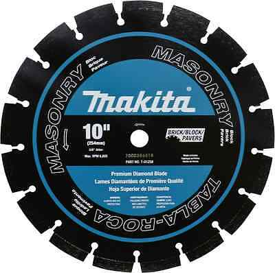 "New MAKITA T-01258 10"" Diamond Blade for Concrete/Asphalt 254mm Segmented Dual"