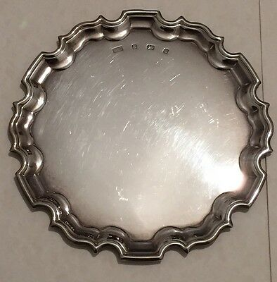 Heavy Solid Silver Calling Card Tray