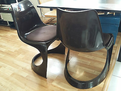Pair STEEN OSTERGAARD DINING CHAIRS CADO 290 1960s/70s danish mid century retro
