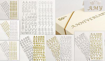 Self Adhesive Letters and Numbers Glitter & Diamante 15mm