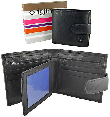 Mens Wallet Real Leather Visconti New in Gift Box 9 Cards/ID Window HT9