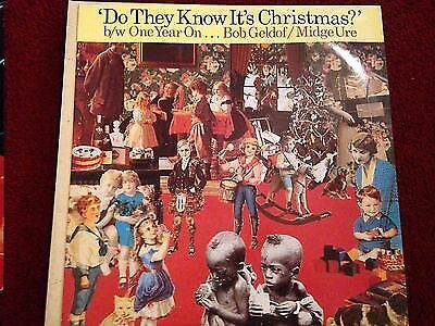 """Band Aid - Do They Know It's Christmas?/One Year On 12"""" Single - FEED112"""