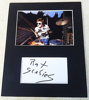 RAT SCABIES SIGNED AUTOGRAPH MOUNTED WITH PHOTO The Damned PUNK LEGEND